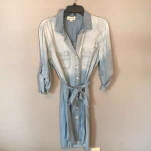 Anthropologie denim shirt dress